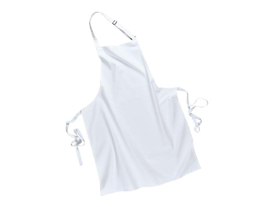 White apron cotton - S840 White Cotton Bib Apron Final